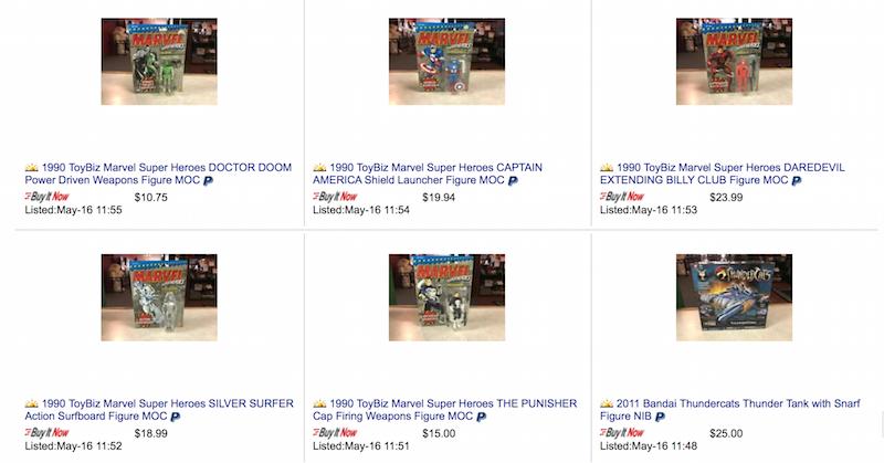 Kokomo Toys eBay Store – Toybiz 1990 Marvel, Movie Maniacs, 1993 Kenner Alien Vs. Predator & More
