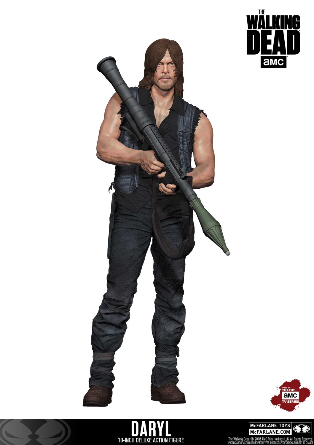 McFarlane Toys The Walking Dead 10″ Daryl Dixon Deluxe Figure In-Stock On Amazon