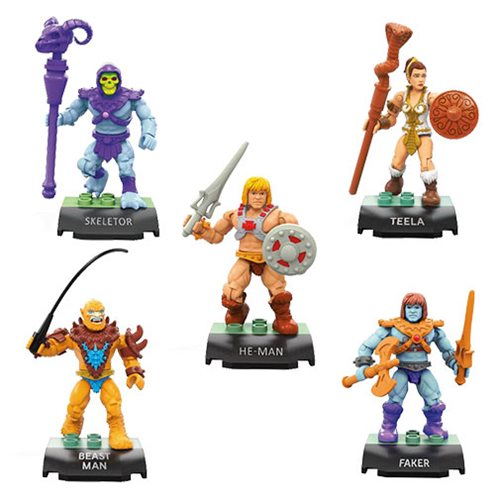 Mega Construx Masters Of The Universe Heroes Collector's Edition Mini-Figure 5-Pack Now $13.70 On Amazon
