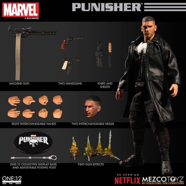 Mezco Toyz One:12 Collective Netflix The Punisher Figure