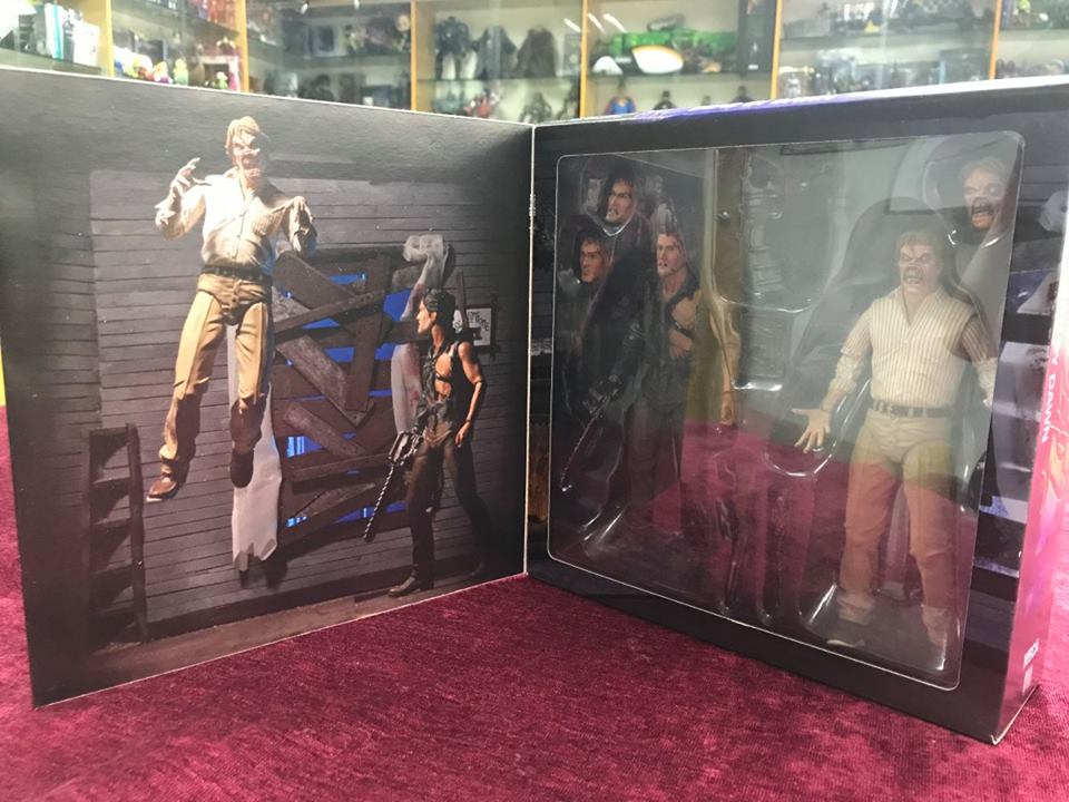 NECA Toys  Evil Dead 2 Hero Ash & Evil Ed 7″ Scale Figures Packaging Preview