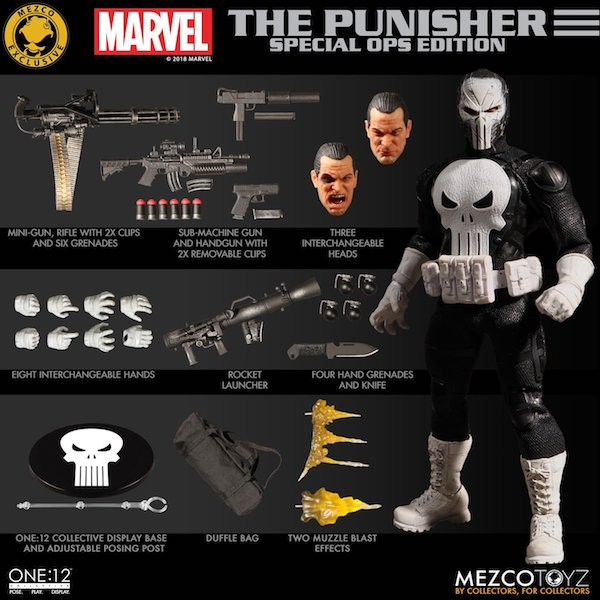 Mezco Toyz SDCC 2018 Exclusive The Punisher Special Ops Edition