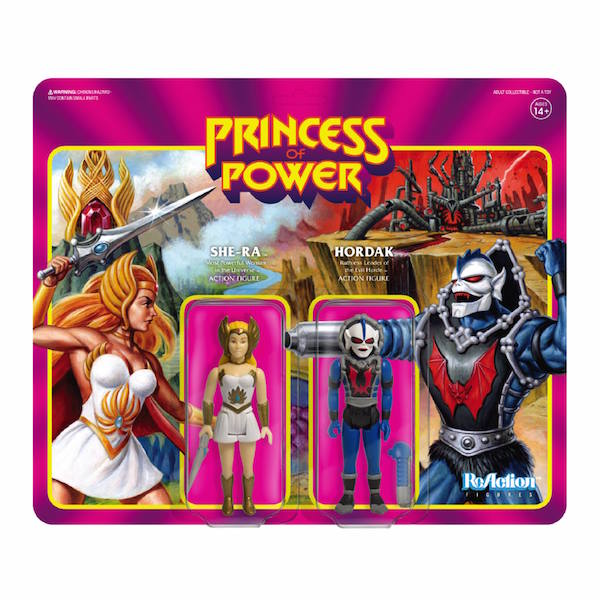 Super7 SDCC 2018 Exclusive Masters Of The Universe ReAction She-Ra Vs. Hordak Figure 2-Pack