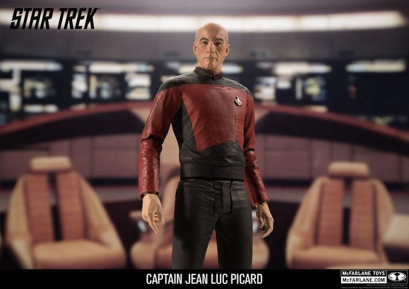 McFarlane Toys Star Trek 7″ Captain Kirk & Captain Picard Official Figure Images