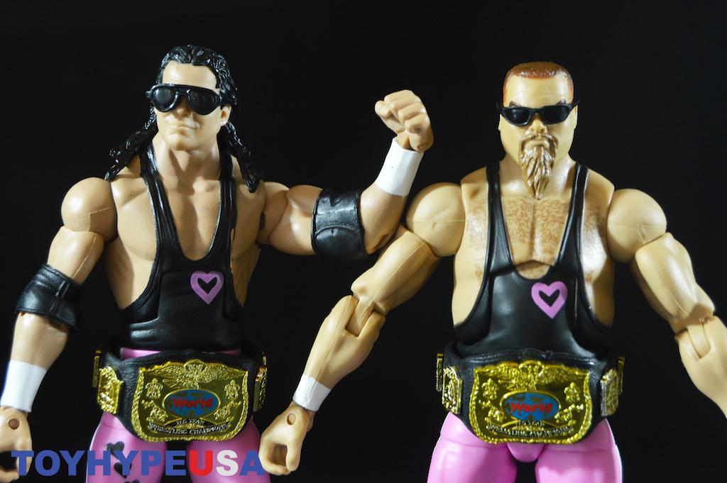 Mattel WWE Elite Flashback Collection Bret Hart & Jim Neidhart Figures Review