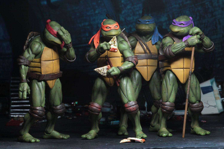 "NECA Teenage Mutant Ninja Turtles TMNT 7/"" in Action Figure 1990 Movie Collection"