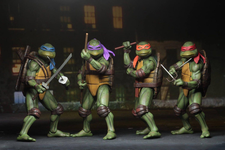 GameStop Exclusive NECA Toys Teenage Mutant Ninja Turtles 1990 Movie Figures Back In-Stock Online