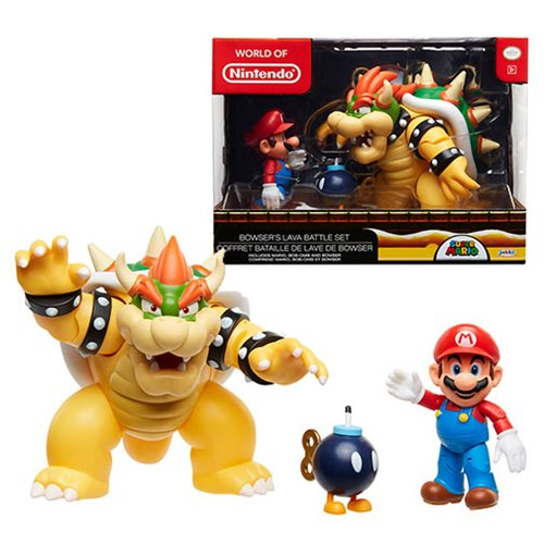 Jakks Pacific Nintendo Mario Vs. Bowser Wave 1 Diorama Set