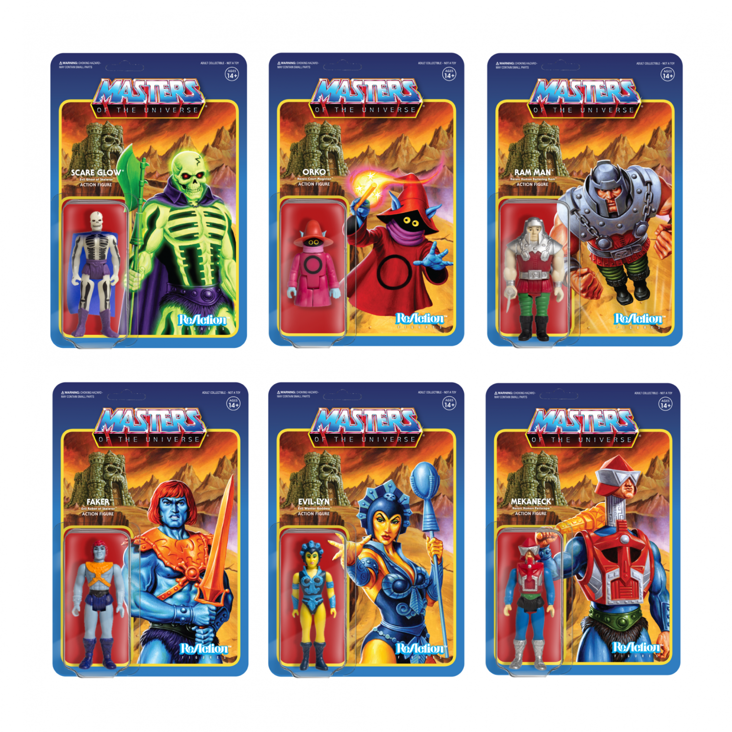 Super7 Masters Of The Universe ReAction Figures Wave 4