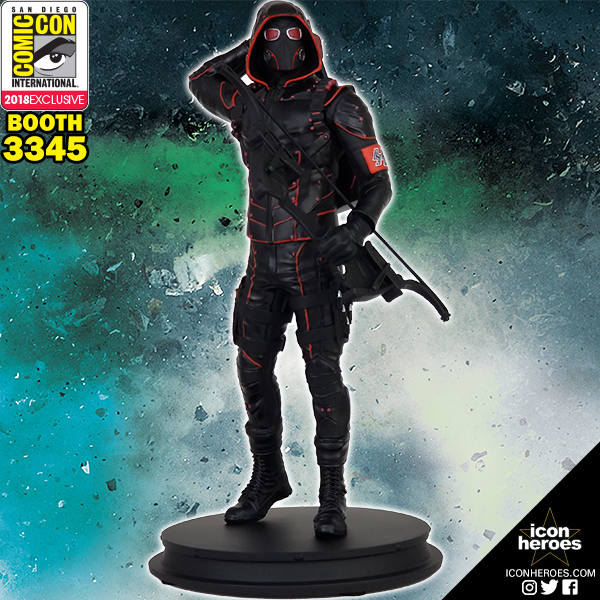 Icon Heroes SDCC 2018 Exclusive Arrow TV Crisis On Earth X Dark Arrow 1/9th Scale Polystone Statue