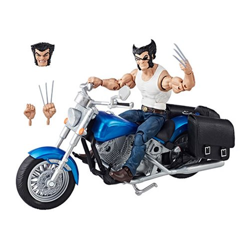 Entertainment Earth – Hasbro Marvel Legends 6″ Wolverine With Motorcycle Box Set In Stock
