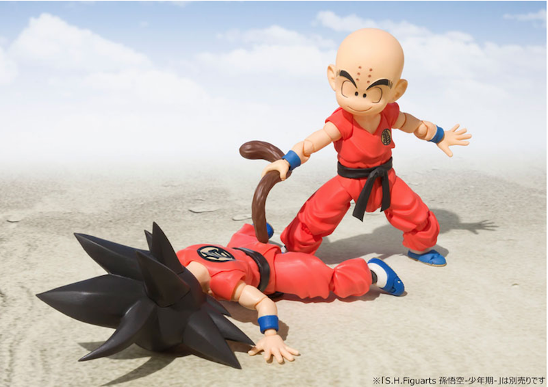 S.H. Figuarts Dragon Ball Kid Krillin Figure Now $43.50 On Amazon