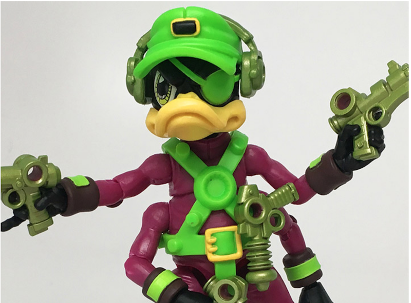 Boss Fight Studio – Bucky O'Hare Corsair Canard Dead-Eye Duck Early Launch Exclusive With Lunchbox