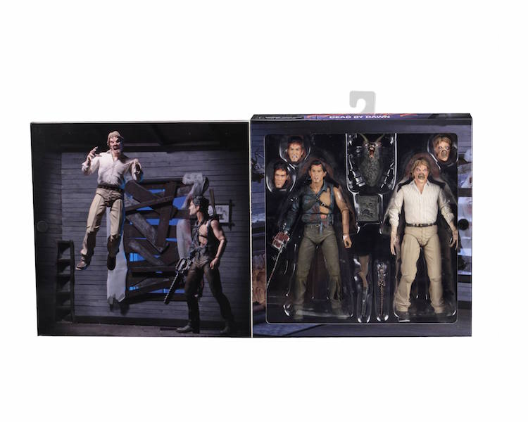 NECA Toys Evil Dead 2 Hero Ash & Evil Ed 7″ Scale Figures In-Packaging