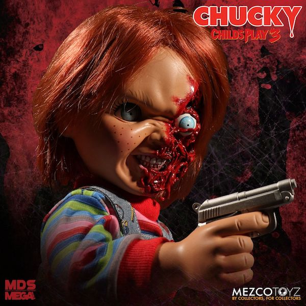 Mezco Toyz Child's Play 3 – Talking Pizza Face Chucky Mega Figure