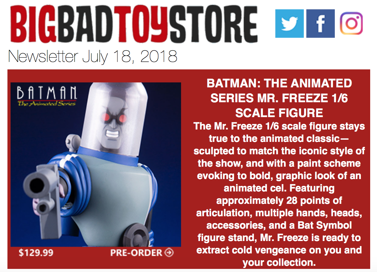 BigBadToyStore – Batman: TAS, Marvel Legends, Boba Fett, Bucky O'Hare, Funko Pop!, Zelda, Tekken, Transformers & More