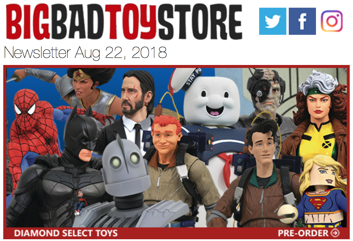 BigBadToyStore – Ghostbusters, Marvel, Power Rangers, Horror, Star Trek, Mickey Mouse, DC & More