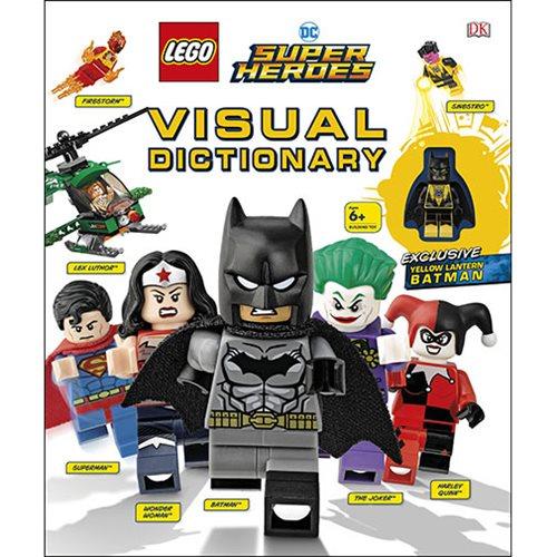 LEGO DC Super Heroes Visual Dictionary Hardcover Book & Exclusive Yellow Lantern Batman Mini-Figure