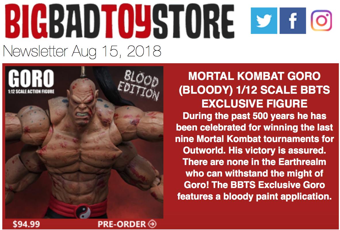 BigBadToyStore – Mortal Kombat, Terminator, Predator, Aliens, Star Wars, Acid Rain, Black Panther, Power Rangers & More