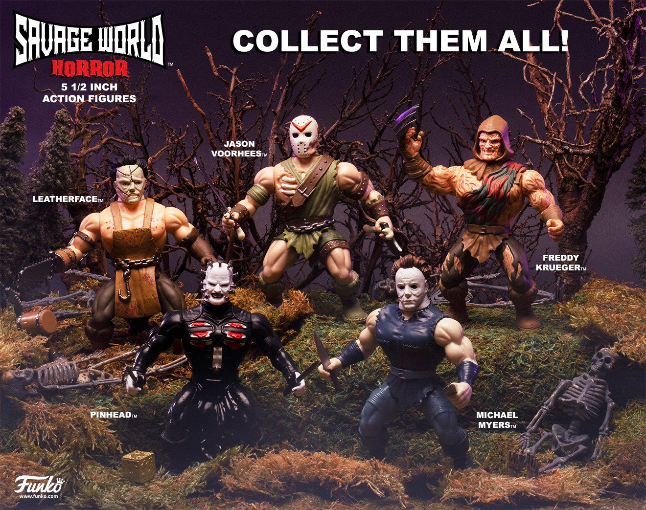 Funko's Savage World Horror Figures Available To Pre-Order