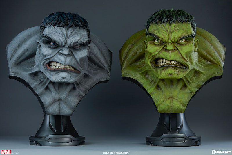 Sideshow Collectibles Marvel Comics Gray Hulk Life-Size Bust Pre-Orders