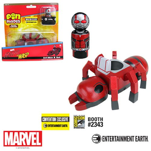 Bif Bang Pow! Ant-Man With Ant Pin Mate Wooden Collectibles Set
