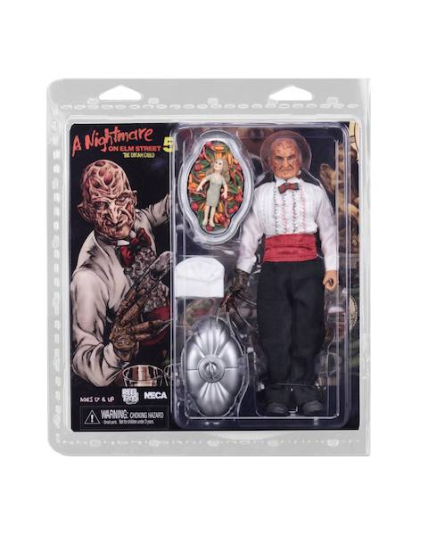 NECA Toys Nightmare On Elm Street Part 5 Chef Freddy 8″ Clothed Figure Available On Amazon & eBay