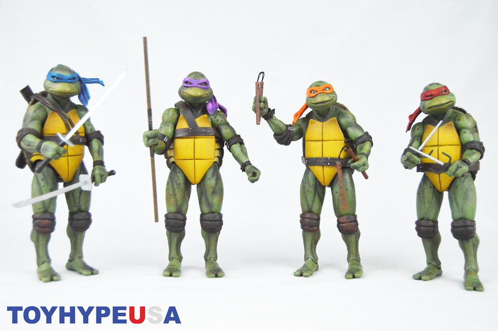 NECA Toys San Diego Comic-Con 2018 Teenage Mutant Ninja Turtles 1990 Exclusive Box Set Part 1 Review
