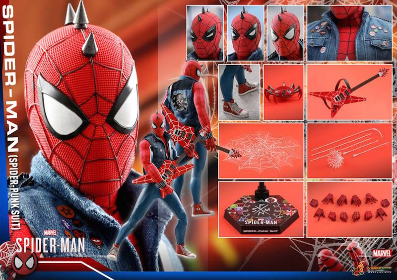 Hot Toys PlayStation 4 Spider-Man – Spider-Punk Costume Sixth Scale Figure Available Now