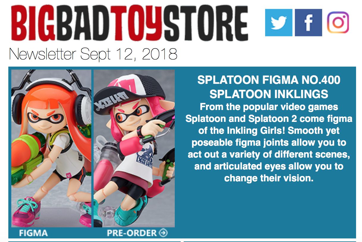 BigBadToyStore News – Splatoon, Transformers, Spider-Man, Hellraiser, Zombie-Lab, Fortnite, Dinosaurs, Spongebob & More