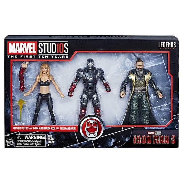Hasbro Marvel Legends 6″ Iron Man 3 Pepper Potts, Iron Man & The Mandarin Figures Now $49 On Amazon