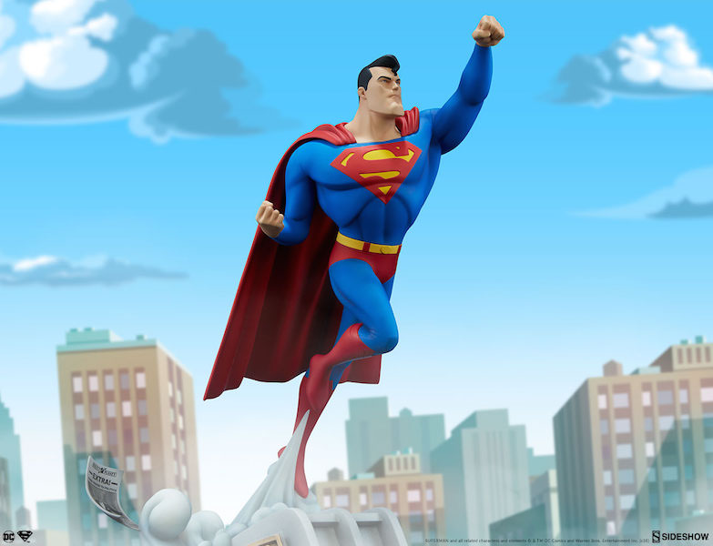 Sideshow Collectibles Superman The Animated Series Collection Superman Statue