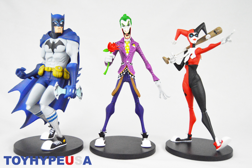 "DC Collectibles Artists Alley Designer Vinyl Figures By Hainanu ""Noogligan"" Saulque – Batman, The Joker & Harley Quinn Review"