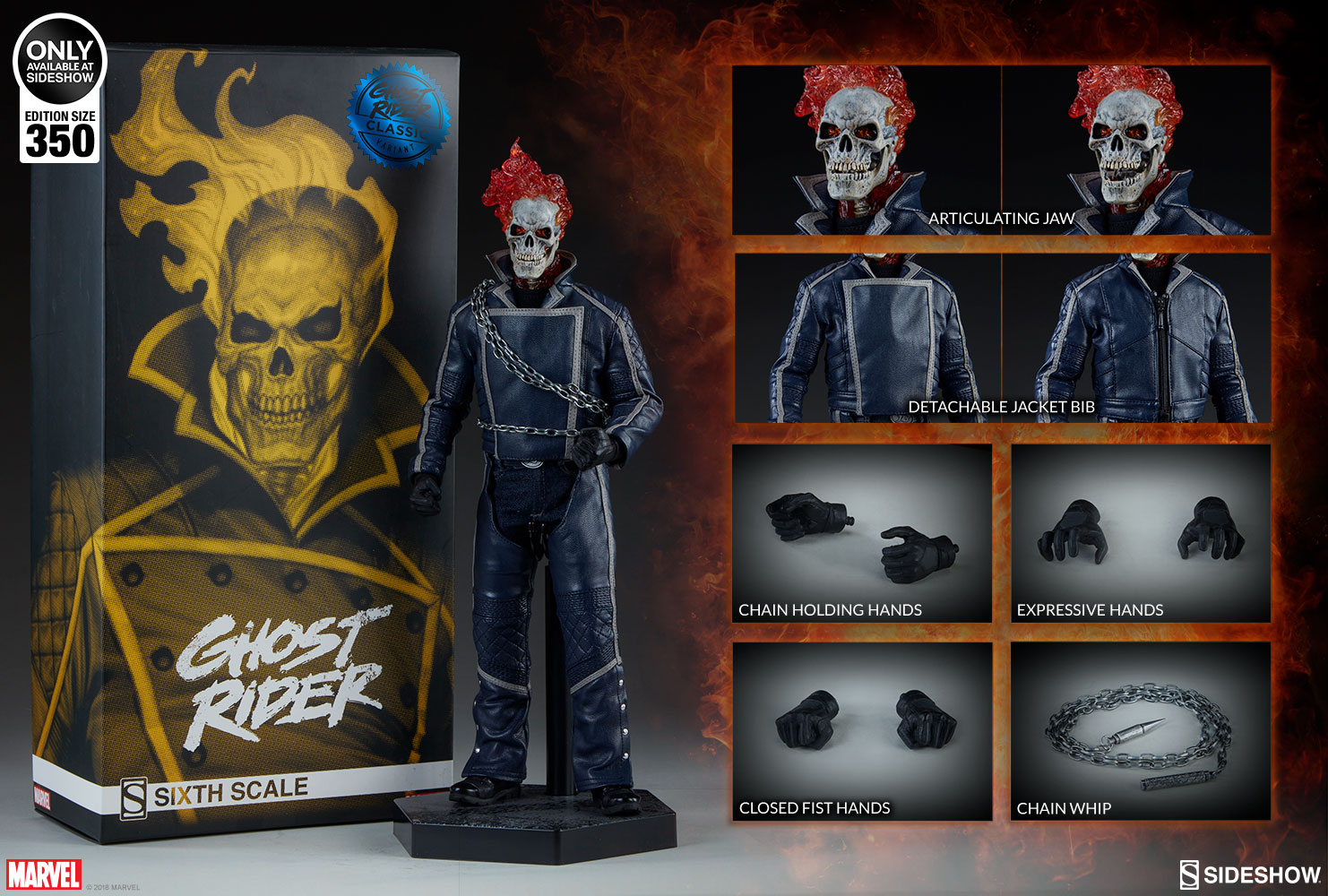 Sideshow Collectibles Limited Edition Ghost Rider Classic Sixth Scale Figure Pre-Orders