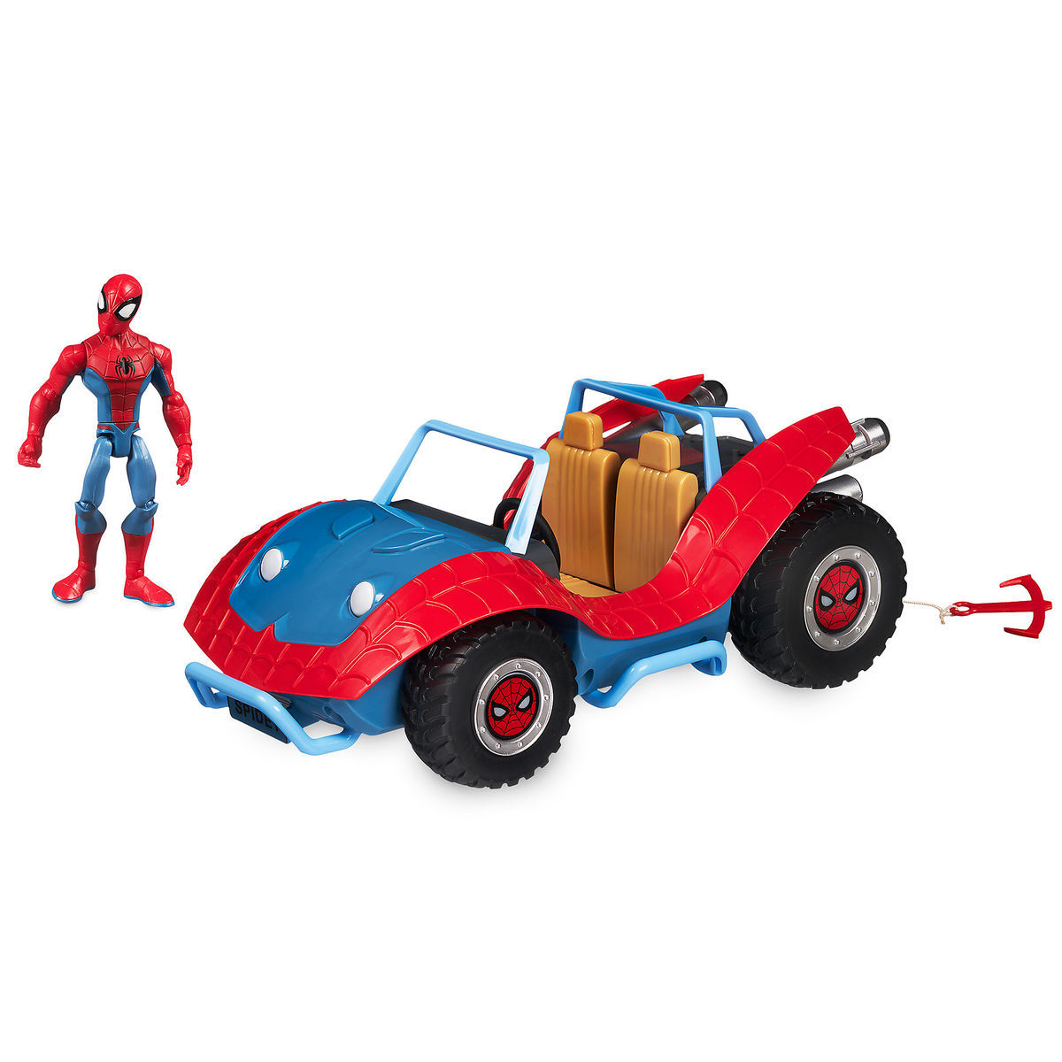 Disney Store Exclusive Spider-Man With Spider Mobile Playset Available Once More