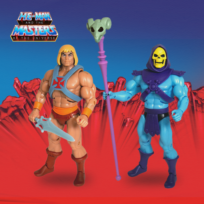 Super7 Masters Of The Universe Classics Ultimates Club Grayskull He-Man & Skeletor Figures