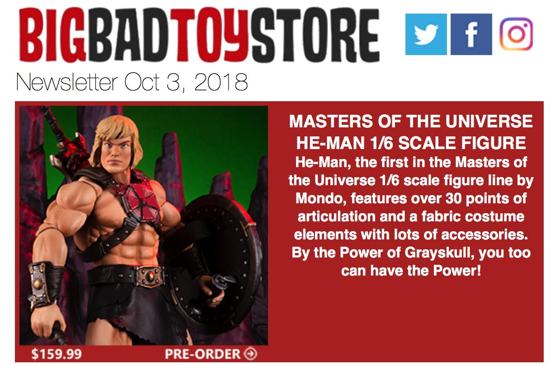BigBadToyStore News – MOTU, Halloween, X-Men, Game Of Thrones, IT, Mickey Mouse, Kingdom Hearts, Overwatch & More