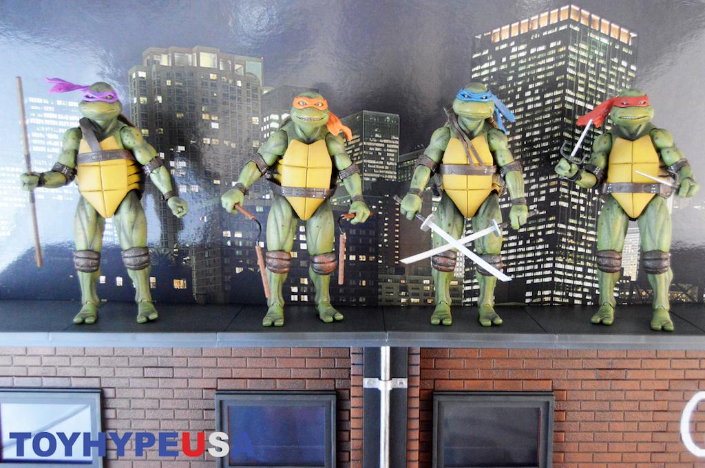 NECA Toys San Diego Comic-Con 2018 Teenage Mutant Ninja Turtles 1990 With Diorama Exclusive Box Set Part 2 Review