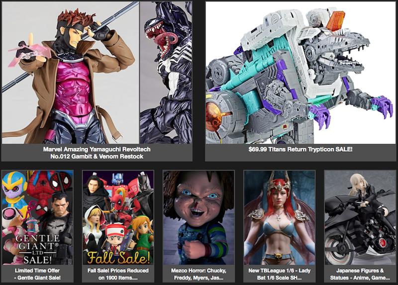 BigBadToyStore News – Trypticon Sale, Yamaguchi Gambit, Chucky, DBZ, Spyro, Transformers, Mythic Legions & More