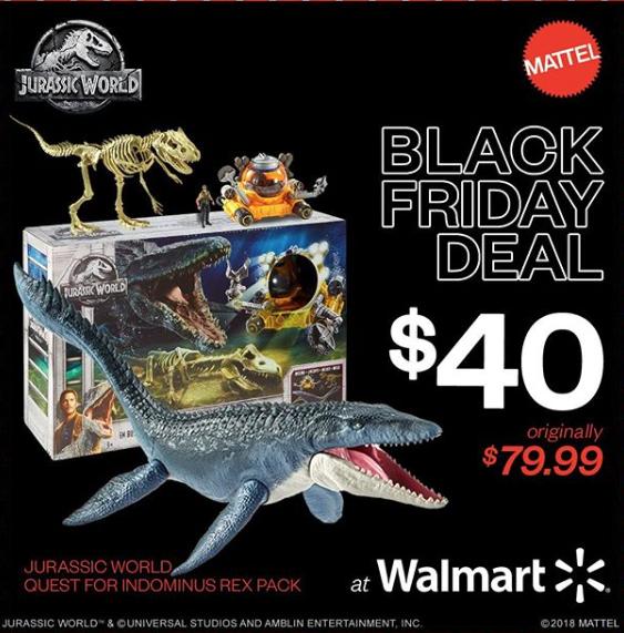 Mattel Jurassic World: Fallen Kingdom – Quest For Indominus Rex Pack 50% Off At Wal-Mart