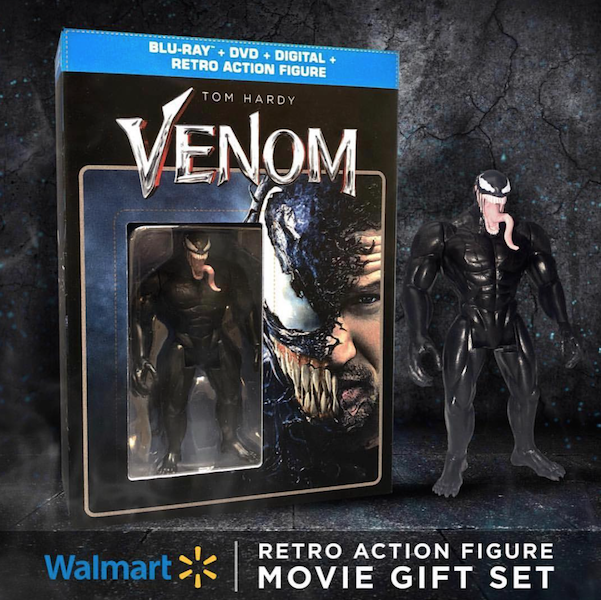 Wal-Mart Exclusive Venom Movie DVD With Limited Edition Retro Figure