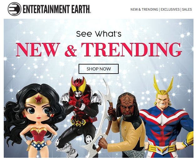 Entertainment Earth News – Star Trek, Dragon Ball & Batman