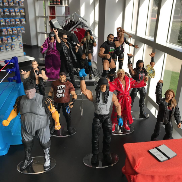 Mattel – WWE Ultimate Edition Line On Display At The Mattel Toy Store Today
