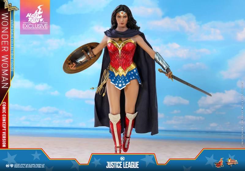 Hot Toys Justice League Wonder Woman Comic Concept Version Sixth Scale Figure