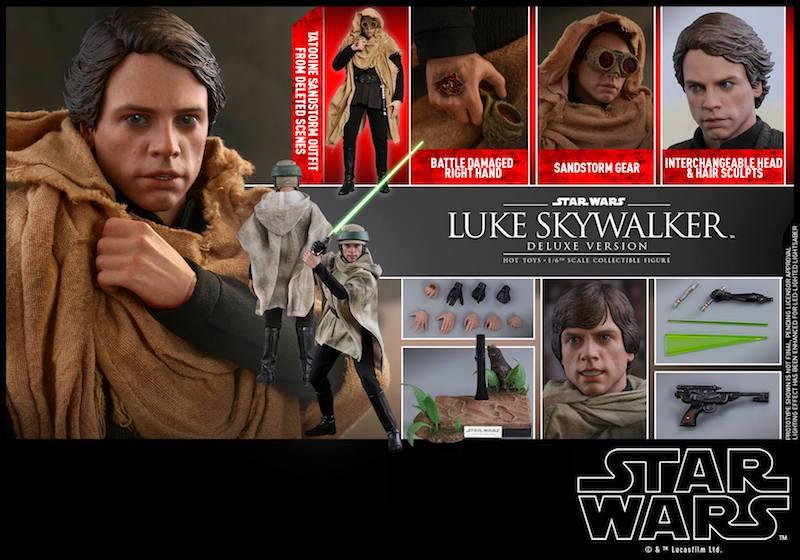 Hot Toys Star Wars: Return Of The Jedi – Luke Skywalker Sixth Scale Figures Pre-Orders