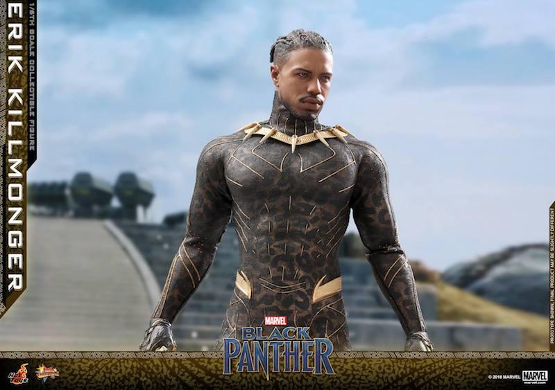 Hot Toys Black Panther Movie – Erik Killmonger Sixth Scale Figure Updated Unmasked Head Sculpt