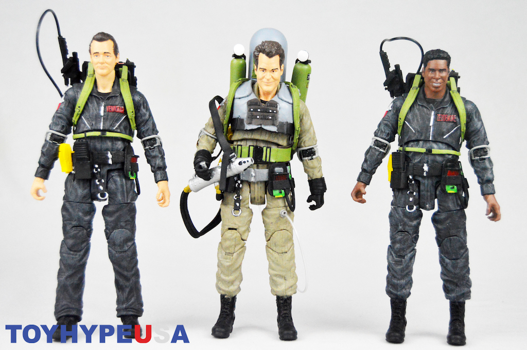 """Diamond Select Toys: Ghostbusters Select Series 8 – """"We're Back"""" Peter, """"We're Back"""" Winston, & Slime-Blower Ray Figures Review"""