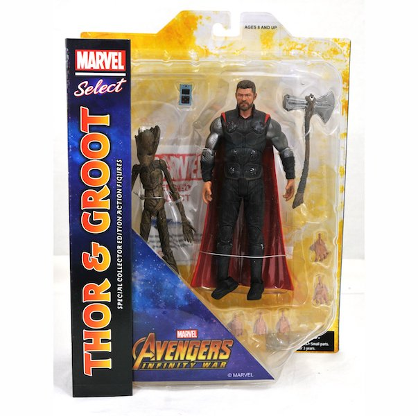 Diamond Select Toys Avengers: Infinity War Marvel Select Captain America & Thor With Groot Figures Available Now