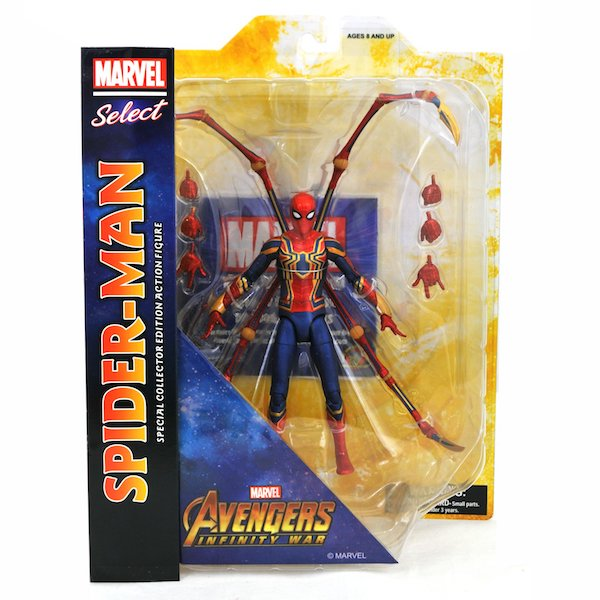 Diamond Select Toys Avengers: Infinity War Marvel Select Iron Spider & Thor With Groot In-Packaging