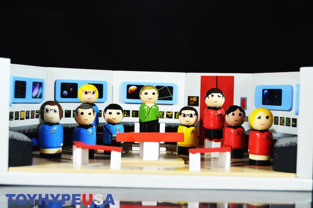 Bif Bang Pow! Star Trek: The Original Series Pin Mate Wood Enterprise Bridge Set Review